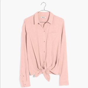 Madewell Flannel Tie-Front Shirt